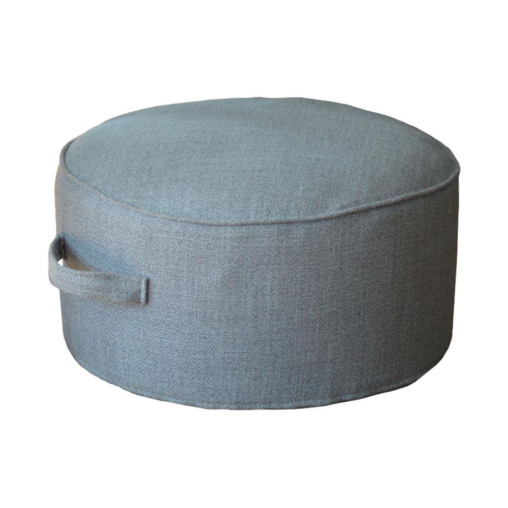 "Floor Sitting Cushion Footstool -Janpanese Round Seating Sofa Pouf Foot Leg Rest Step Stool Pillow for Kids Adults - Diameter 15.7"" (White) Lovefire International"