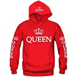 lome123 Unisex Casual Hooded Neck Long Sleeve Letter Print Front Pocket Hoodie Sweater