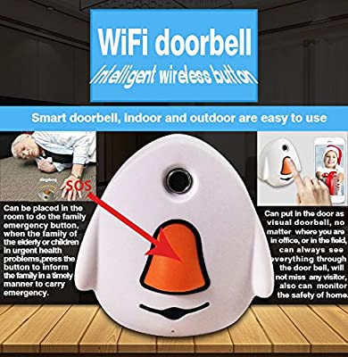Secbell Doorbell Wifi Video Door Phone Doorbell Wireless Intercom Enabled Video Doorbell Color Gold