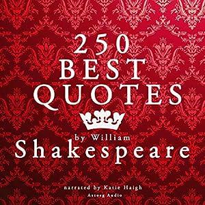 250 Best Quotes by William Shakespeare | Livre audio