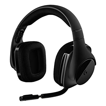 e617cafc140 Logitech G533 Gaming Headset with Wireless DTS 7.1 Surround Sound, Black