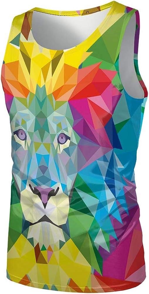 Hiser 3D Drucken Herren Tank Top Sommer Sport Muskelshirt /Ärmellos T Shirt Fitness Unterhemd Top Shirt f/ür Outdoor Beach Party oder Gym Jogging Running