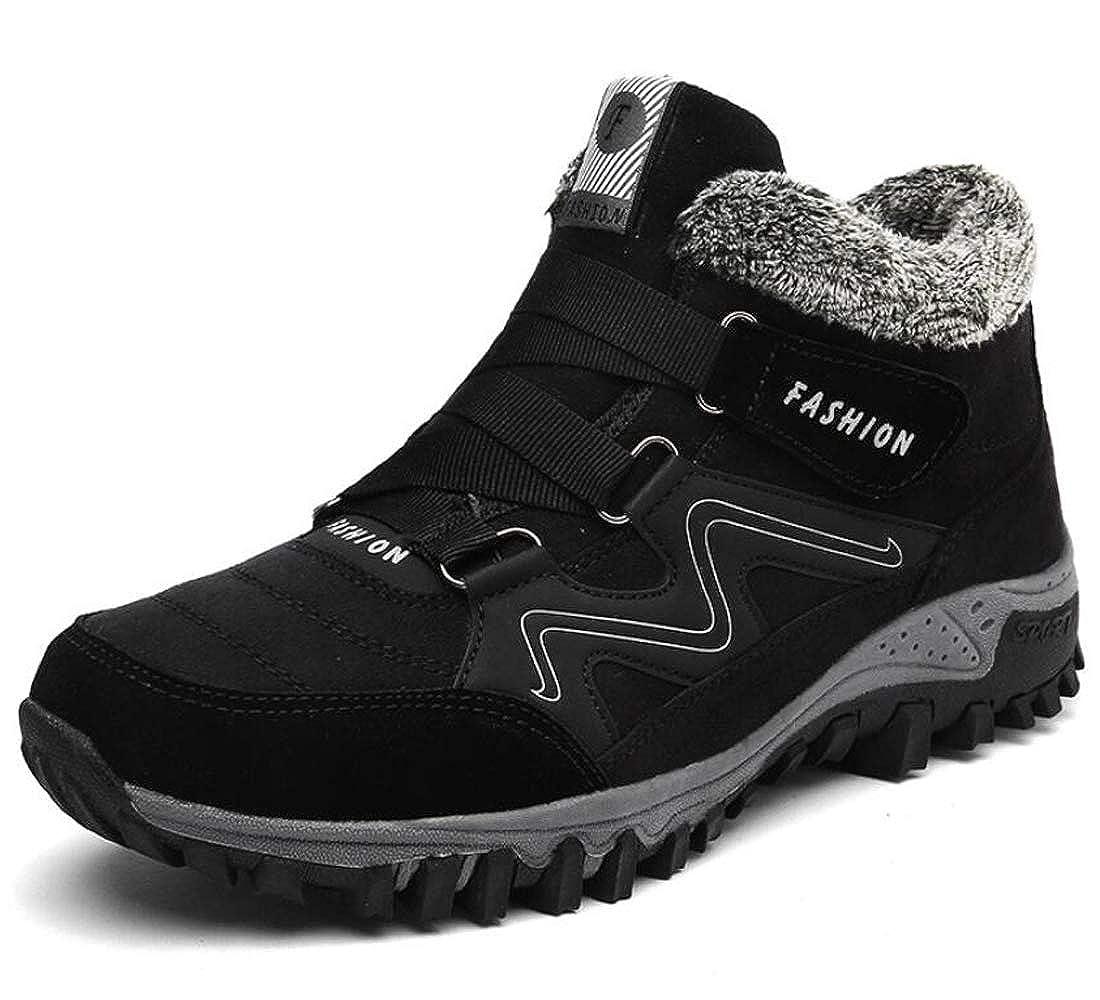 35fb4bad63d Mens Womens Snow Boots Fur Lined Winter Ankle Booties Non-Slip Lightweight  Waterproof Trekking Hiking Walking Shoes Outdoor Sneaker