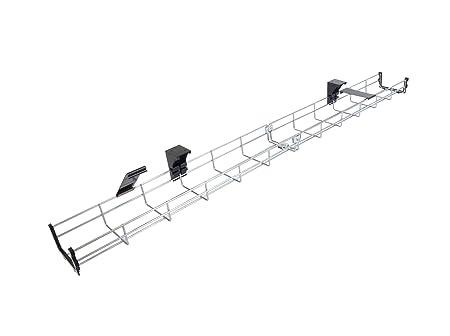 Allcam 3 Pack 100cm Long Under Desk Basket Cable Tray Galvanized ...