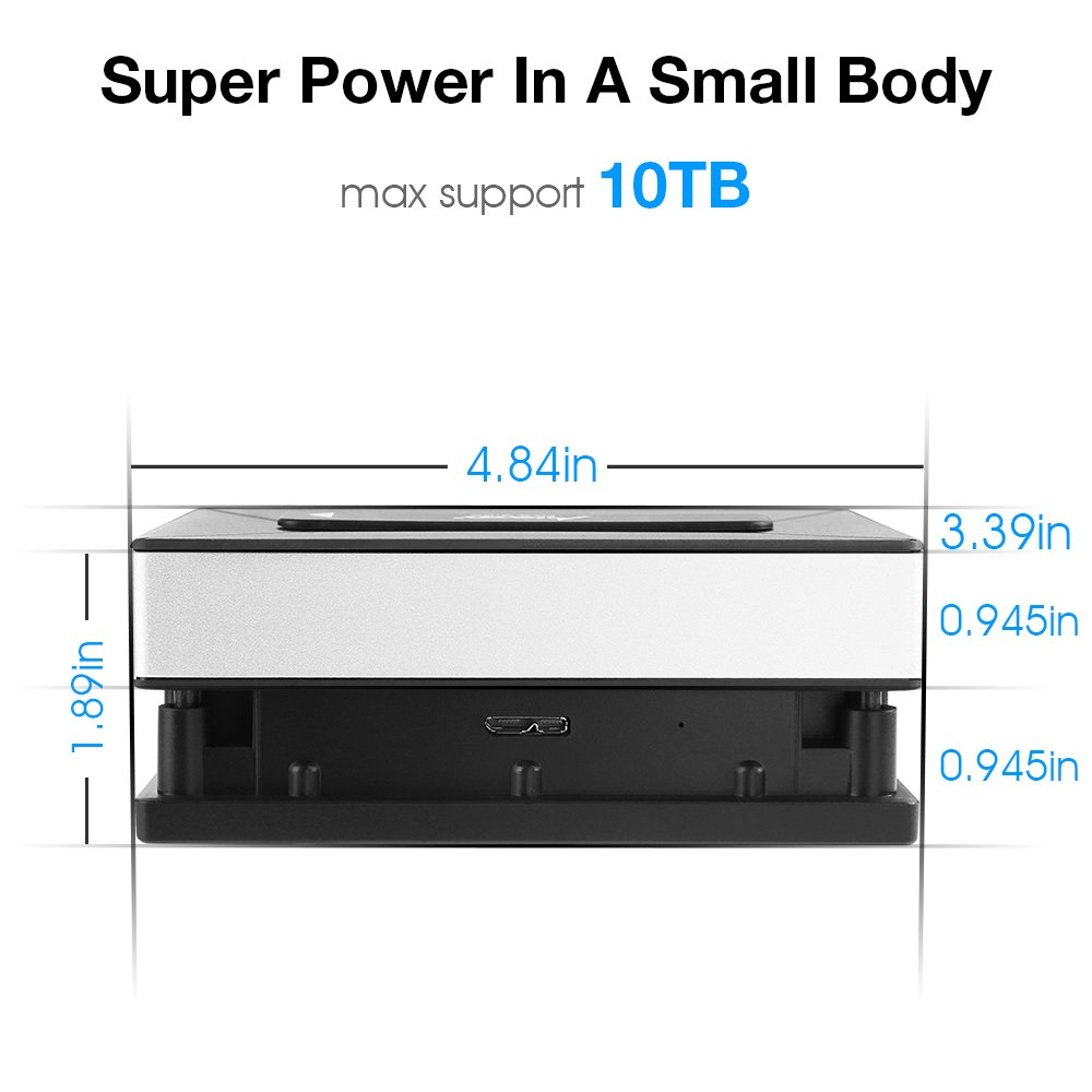Hard Drive Docking Station, MAD GIGA USB 3.0 to SATA Single Bay Hard Drive Docking Station for 2.5Inch SATA I/II/III HDD SSD by MAD GIGA (Image #6)