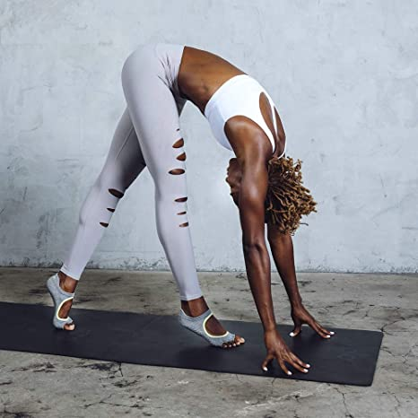 Toesox Half Toe Bellarina Calcetines de Yoga, Unisex Adulto