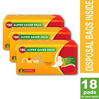 NIINE Sanitary Pad Extra Long 20's (PACK of 3): Amazon in