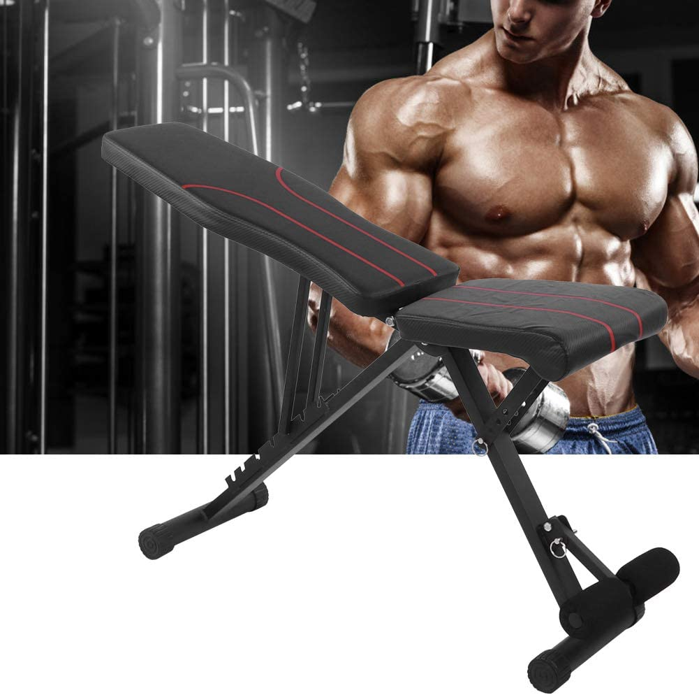 POCREATION Incline Decline Bench, Adjustable Full Body Workout Weight Bench Multi-Purpose Utility Weight Bench Foldable Flat Bench for Home Gym Load Capacity 441LBS: Sports & Outdoors
