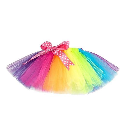 TENDYCOCO - Disfraz de arcoíris para niña, tutú de Ballet de ...