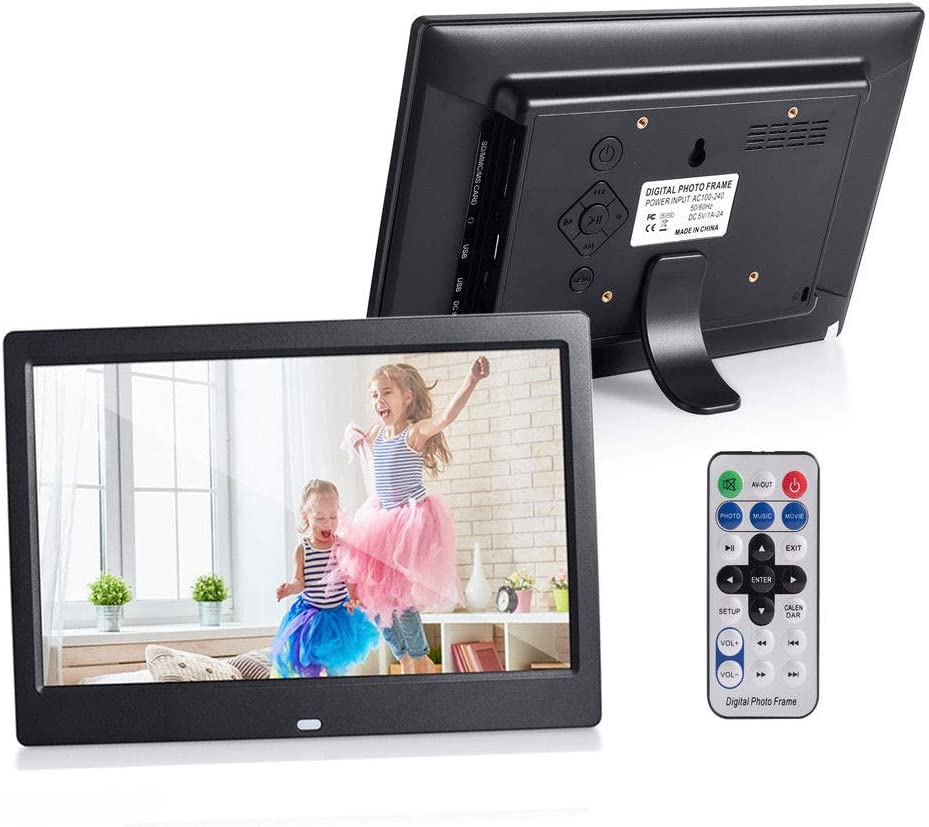10inch HD 1024x600 Digital Photo Frame with MP3 MP4 Function,Electronic Picture Frame Remote Control