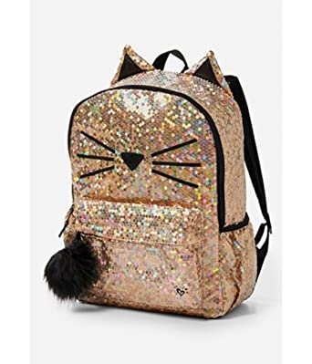 c051abea8a09aa Amazon.com | Justice Backpack sequin Cat | Casual Daypacks