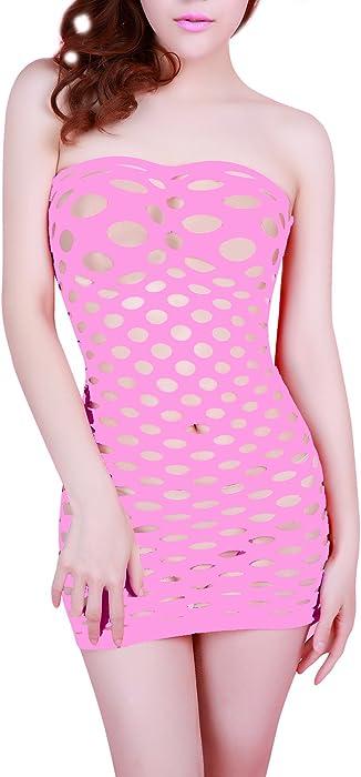 dee33250b2b1 MissSoul Babydoll Lingerie Sexy Hot Donna Erotico con Apertura A Rete  Biancheria Intima Ouvert per Le Donne Abbigliamento Mini Abito