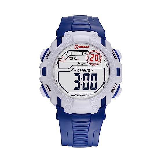 TAIJU Reloj impermeable para niños, niños y adolescentes, electrónico, para actividades al aire