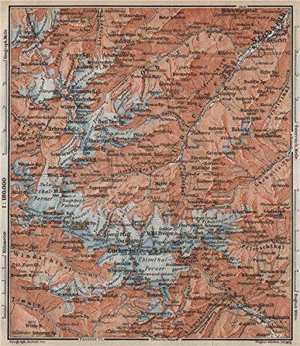 Tirol Italy Map.Stubai Alps Stubaier Alpen Neustift Im Stubaital Tirol Tyrol Topo