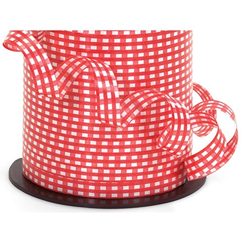 Red Gingham Curling Ribbon - 3/8in. x 250 Yards 250 Ribbons