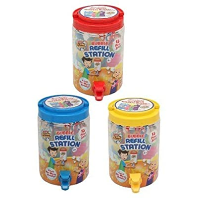 Bubble Refill Station No Mess Outdoor Children Kids Solution Wand Cup 13pc Set: Toys & Games