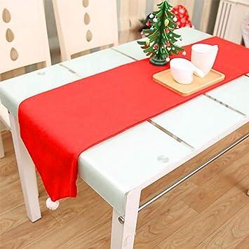 JX Mantel de camino de mesa de Navidad, sombrero de Papá Noel ...