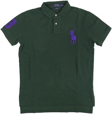 d82a5251e8 RALPH LAUREN Polo Men s Custom-Fit Big Pony Mesh Polo Shirt X-Large Green