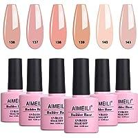 AIMEILI Builder Base Sheer Color Gel Quick Extension Nail Enhancement Reinforce Lacquer Soak Off UV LED Multicolour/Mix…