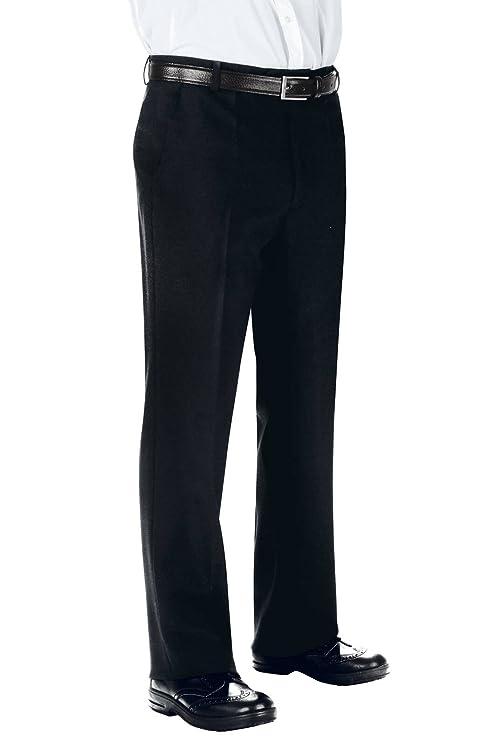 100% Poliestere 170 gr/m² Isacco Pantalone Uomo senza Pinces Nero Nero 40