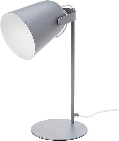 Oferta amazon: Umi. by Amazon - Lámpara de mesa, metálica, vintage, 35,56cm, gris