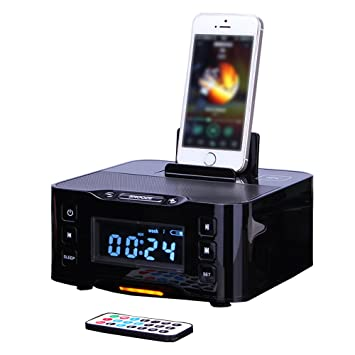 Mettime Clock Radio Dock Speaker Bluetooth Alarm Base de ...