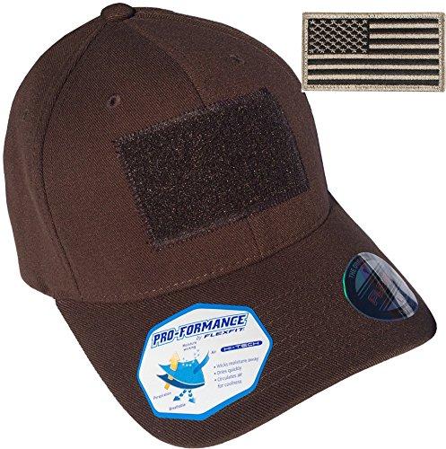 "Flexfit Pro-Formance Fitted 6580 Tactical Hat (L/XL (7 1/8"" - 7 5/8""), Brown)"