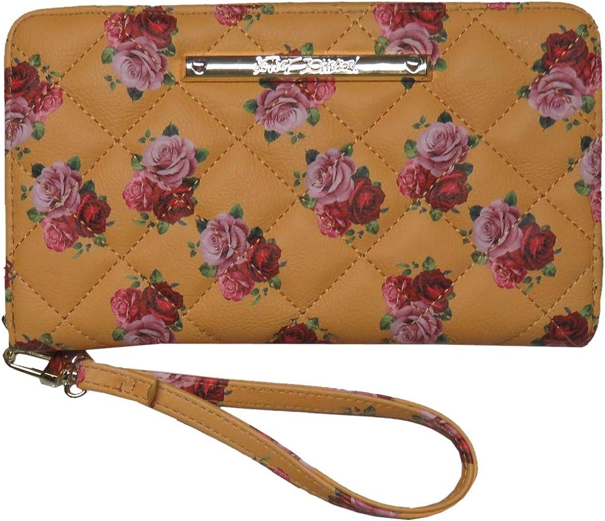 Betsey Johnson Women's Z/A Floral Wristlet/Wallet Mustard/Yellow