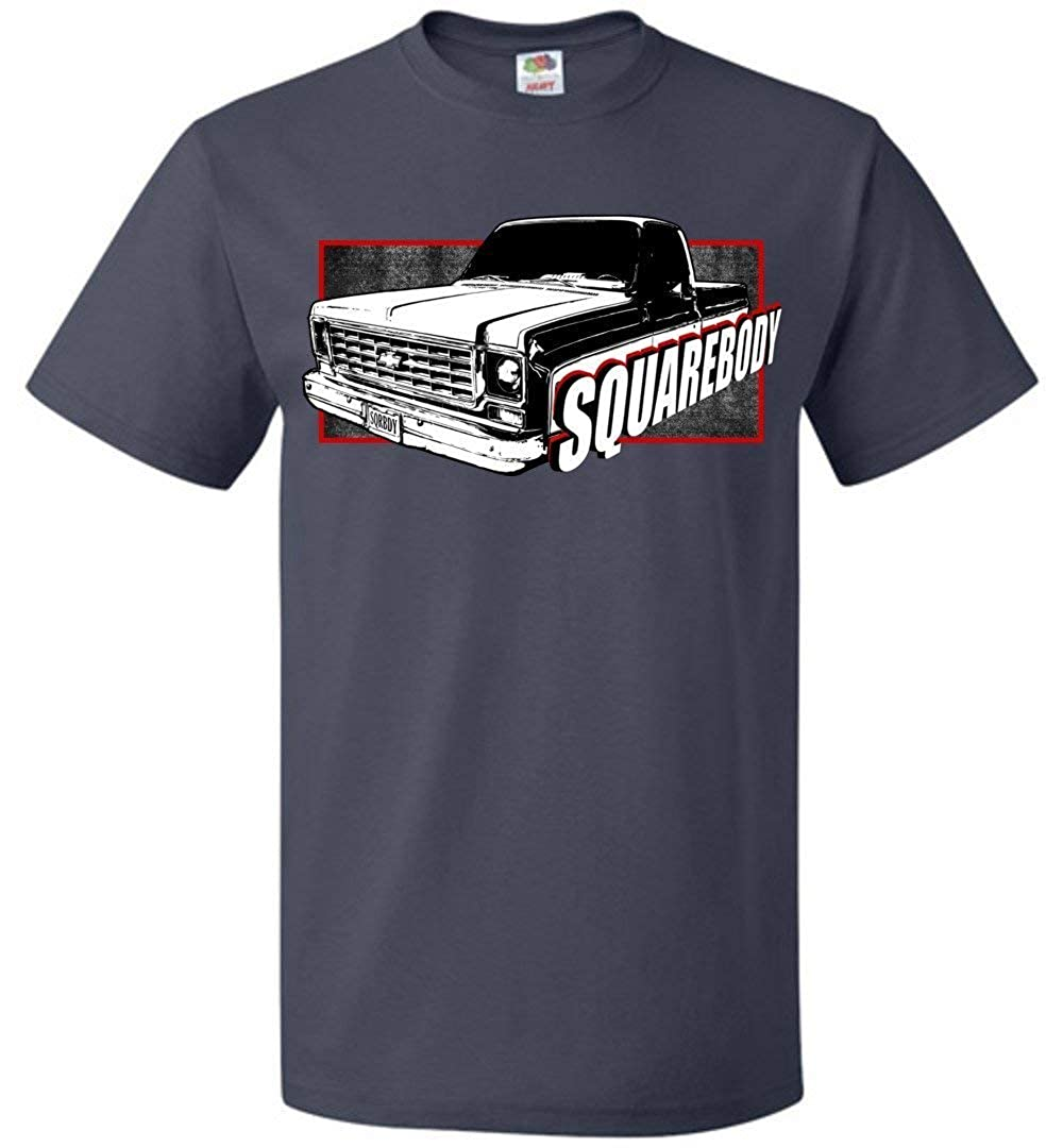 Aggressive Thread Square Body T-Shirt with 74-76 Round Eye Squarebody Chevy Truck