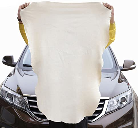 2-Sizes Chamois Leather Car Natural Cleaning Drying Cloth Absorbent Wash Towel