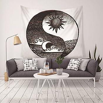 Amazon Com Vocktops Wall Tapestry Popular Sun God Moon
