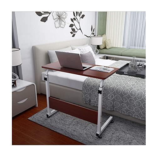 Cibee Adjustable TV Tray Table, Computer Desk Cart 31.5 15.7 , TV Dinner Coffee Side Snack End Couch Console Table Laptop Desk Red