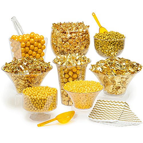 Gold Candy Kit - Party Candy Buffet Table: 25 to 50 Guests