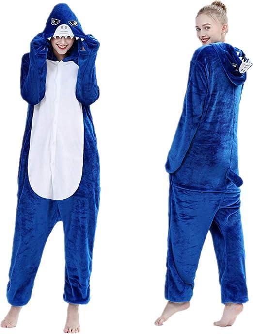 Mono de tiburón de una sola pieza, pijama de forro polar para ...