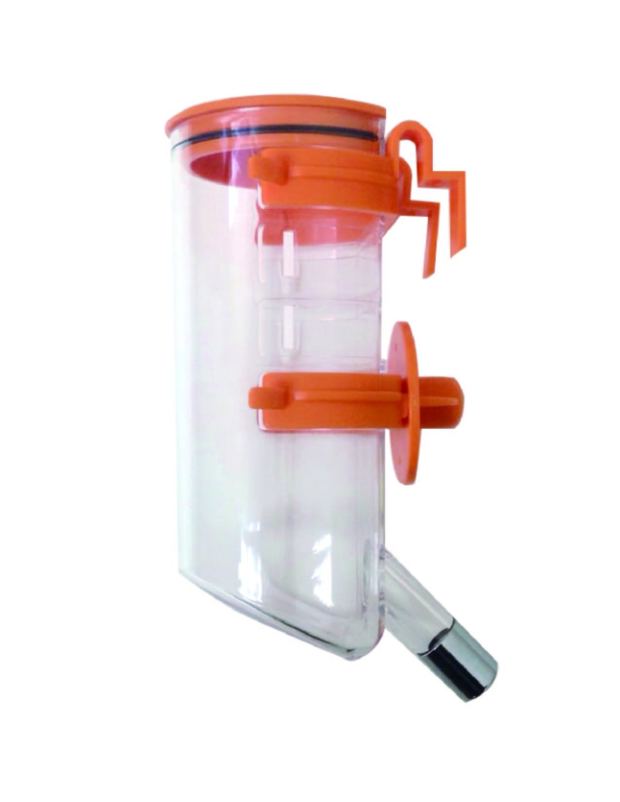Choco Nose H220 Classic Opened-top Water Feeder with Hook, Pet Water Dispenser, Water Bottle for Small-sized Dog, Cat, Medium-sized Rabbit, No Drip, 13.5 Oz. Nozzle Diameter: 16mm