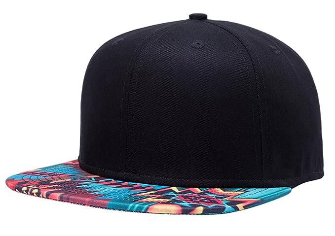 Aivtalk - Hip Hop Negro Sombrero Gorra de Béisbol Moda con Estampado Unisex  Snapback Hat Cap para Hombres Mujeres  Amazon.es  Ropa y accesorios c05cf82bb3c