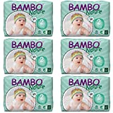 Bambo Nature Baby Diapers Classic, Size 2, 180 Count (6 Packs of 30)