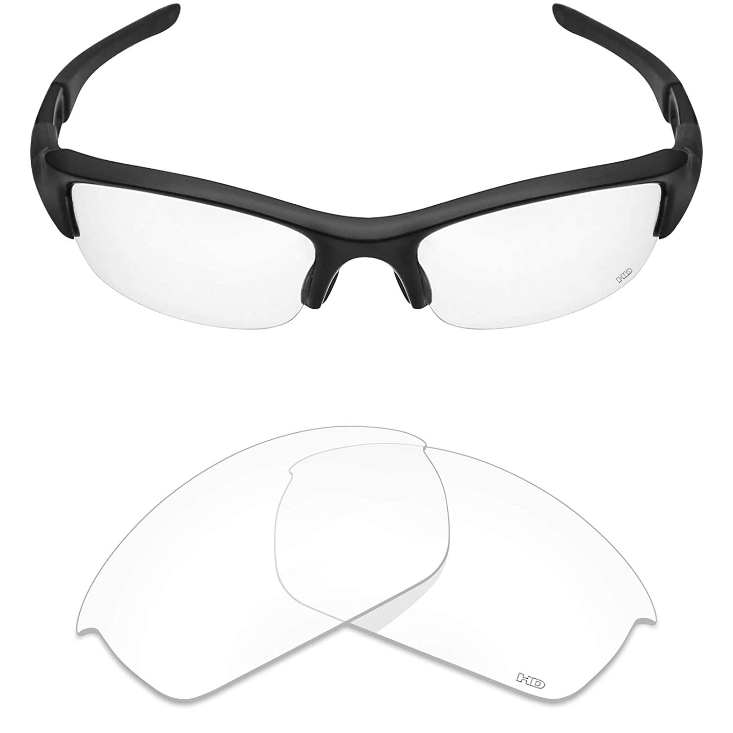 Amazon.com: Mryok+ Polarized Replacement Lenses for Oakley Flak Jacket - HD  Clear: Clothing