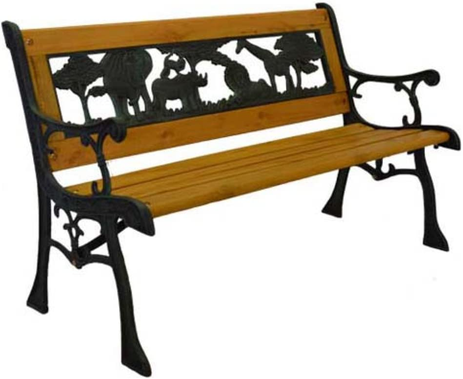 HGC Home and Garden Junior Safari Kids Park Bench