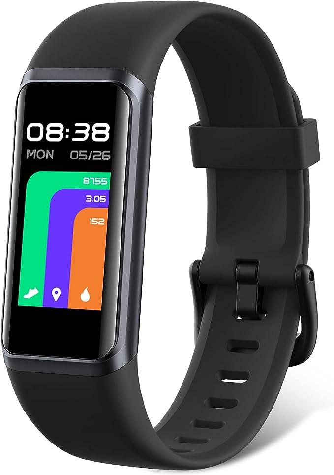 LIFEBEE Pulsera de Actividad Inteligente Impermeable 5ATM para Hombre Mujer niños, Táctil Completa Reloj Inteligente con Pulsómetro, Oxígeno en Sangre, Monitor de Sueño, Podómetro para Android iOS