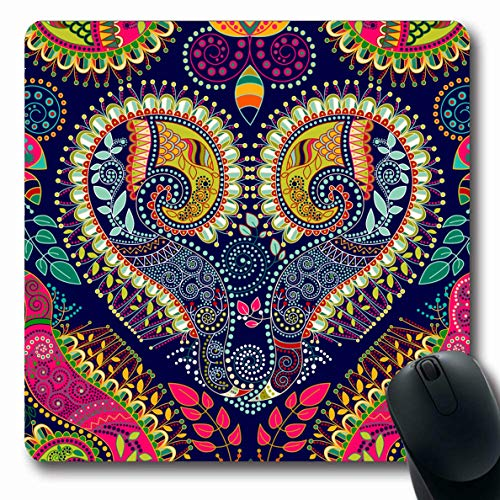Ahawoso Mousepad Oblong 7.9x9.8 Inches Malaysian Indian Paisley Original Pattern Nature Ethnic Flower India Floral Batik Design Office Computer Laptop Notebook Mouse Pad,Non-Slip - Carpet Chinese Tibetan
