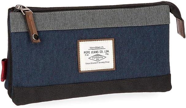 Estuche Pepe Jeans Roy azul tres compartimentos: Amazon.es: Equipaje