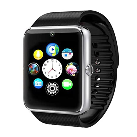 Samgu Smartwatch, Reloj Inteligente Android con Ranura para Tarjeta SIM,Pulsera Actividad Inteligente para