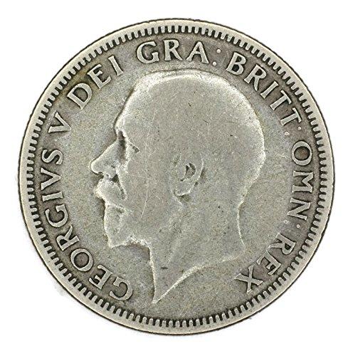 1929 UK George V British Silver Shilling Schilling Good