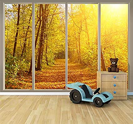 Amazon.com: wall26 Large Wall Mural - Golden Autumn View Seen ...