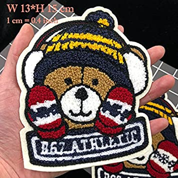 12c4b86288 Pinkdose® Small Bear Patches  Jod Wool Bear Large Patches for Clothes  Embroidery Decorative Patch
