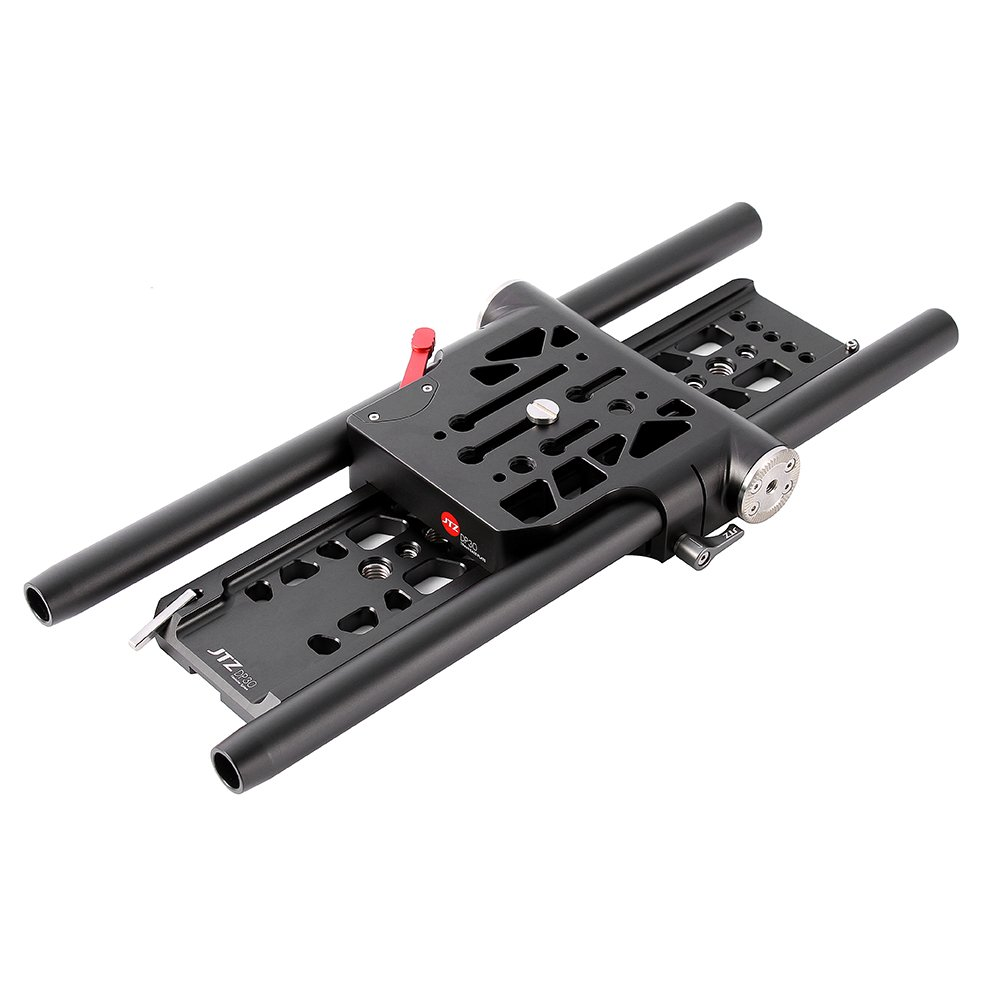 JTZ DP30 Universal Quick Release QR Baseplate 19mm Rod Rig for Follow Focus Matte Box Canon 5D III Sony A7 II GH4/5/5s FS5/7 Blackmagic Ursa Mini BMPCC 4K DSLR Camcorder Cameras, Arri Rosette Mount