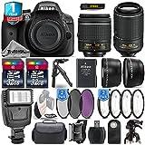 Holiday Saving Bundle for D3300 DSLR Camera + 18-55mm VR Lens + 55-200mm VR II Lens + 0.43X Wide Angle Lens + 2.2x Telephoto Lens + Flash + 64GB Storage + 2 Of UV-CPL-FLD - International Version