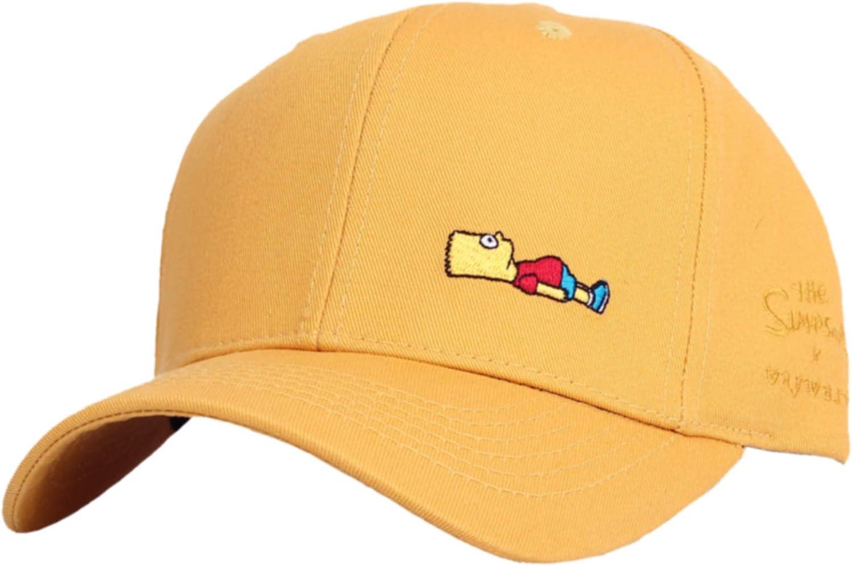 WITHMOONS The Simpsons Ball Cap Bart Simpson Lying Down Comics HL1716