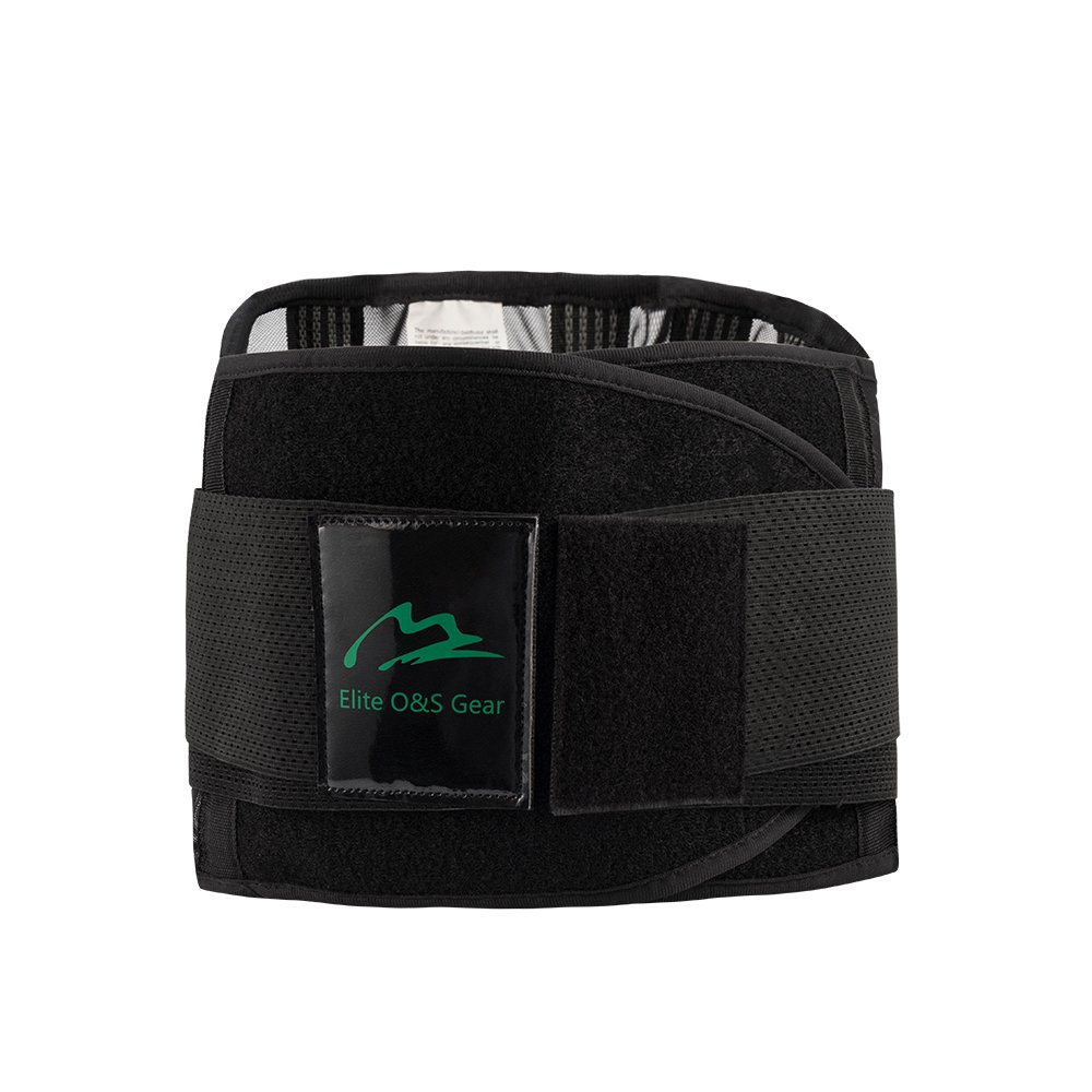 Elite O&S Lower Back Support Lower Back Pain Relief Brace Lumbar Support Belt for Adult (Large)